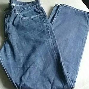 Lucky Brand dark wash jeans 34 vintage straight